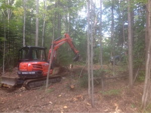 Suddenly, this is more than a clearing in the woods: it is a jobsite.