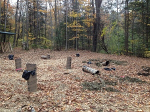 Sonotube graveyard. Very scary.